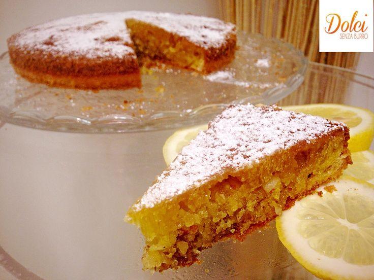 La TORTA CAPRESE AL LIMONE SENZA BURRO è la variante bianca della famosa #torta…
