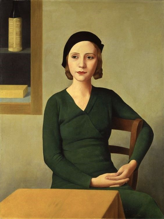 Antonio Donghi | 1897-1963, Italy, realismo magico / magic realism | woman at the coffee, 1931
