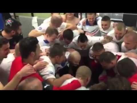 SLOVENSKO oslavuje postup na EURO 2016 - (situácia v šatni po zápase) - YouTube