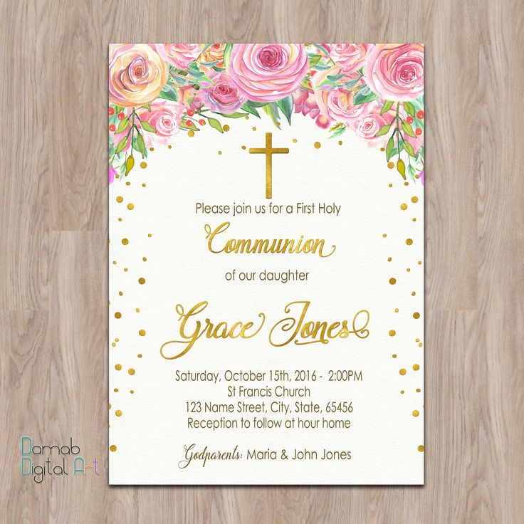 Invitations For First Communion with adorable invitation ideas