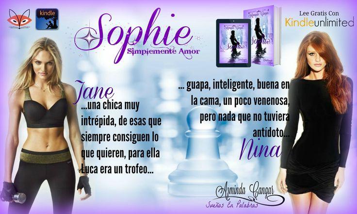 "Porque no siempre somos chicas buenas... ;)  ""Sophie"" es SimplementeAmor  Sinopsis: http://myBook.to/Sophie  Booktrailer: https://youtu.be/AgzJecFc0qk  www.azmincangar.com  #KindleUnlimited #Createspace #AutoraIndie #Romance #Amor #Erótico #Amazon #FoxyInternacional"