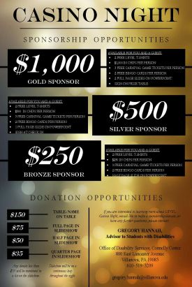Casino Night Sponsorship Opportunities Fundraising