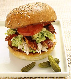 Roast Chicken Sandwich with Bacon and Guacamole