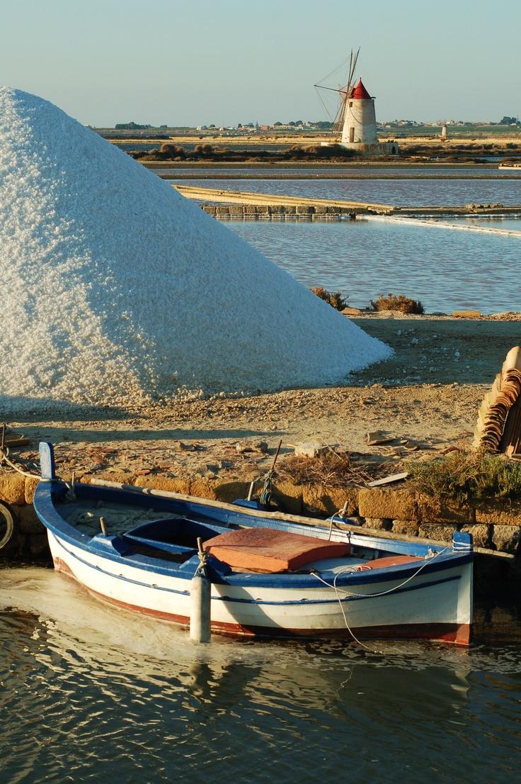 the salt pans, Trapani, Sicily