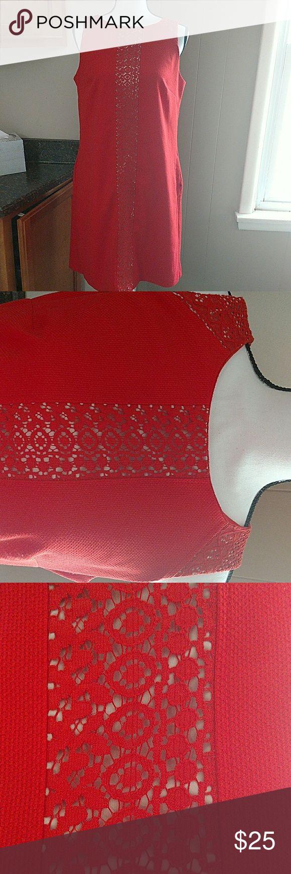 Nine West Orange Dress Sleeveless orange dress T-length with pockets Nine West Dresses Midi
