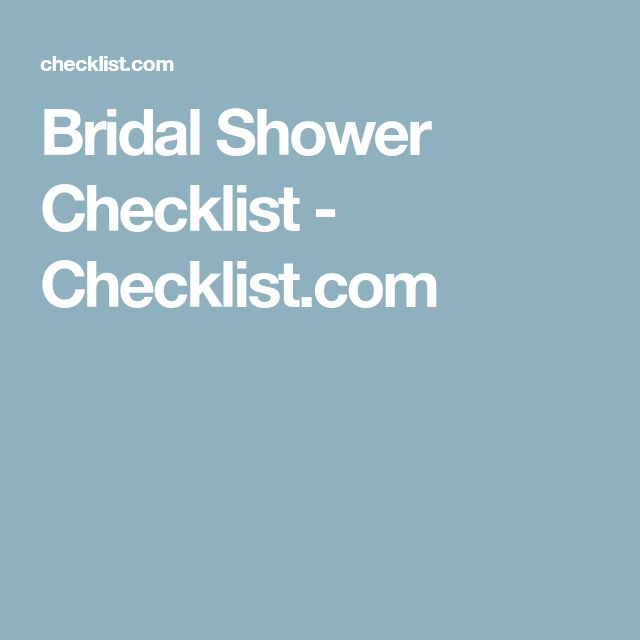Best  Bridal Shower Checklist Ideas On   Bridal