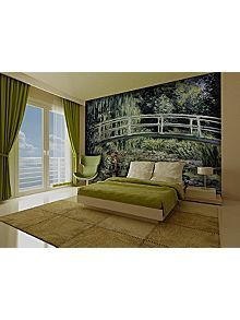 Claude Monet water lily pond wallpaper mural