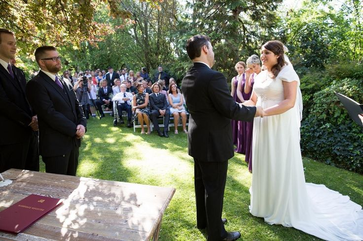 Ceremony in the Gardens @ Chateau Dore Winery