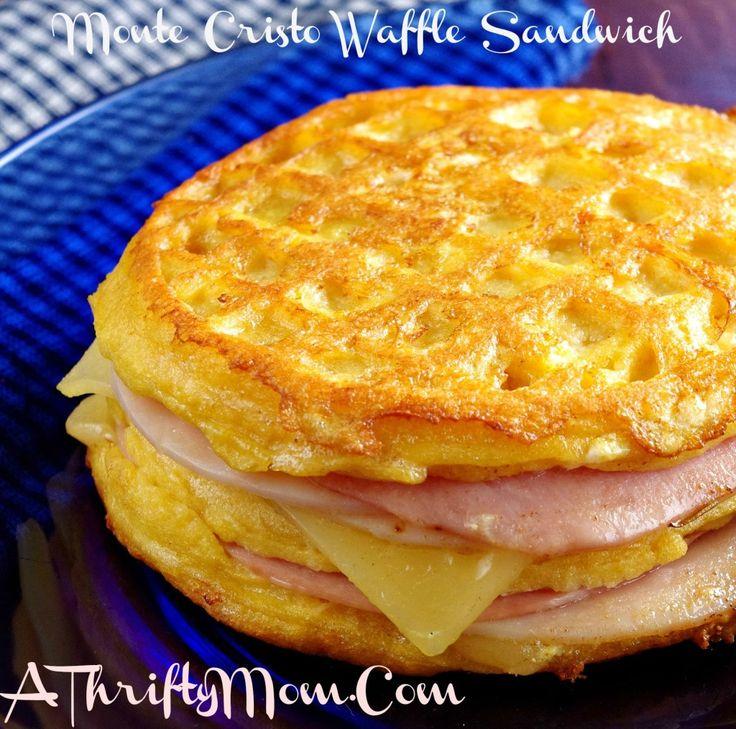 Monte Cristo Waffle Sandwich, Lunch Recipe, Eggo Week Of Waffles,Eggo Chief Waffle Officer, Great Eggo Waffle Off, Recipes Usin