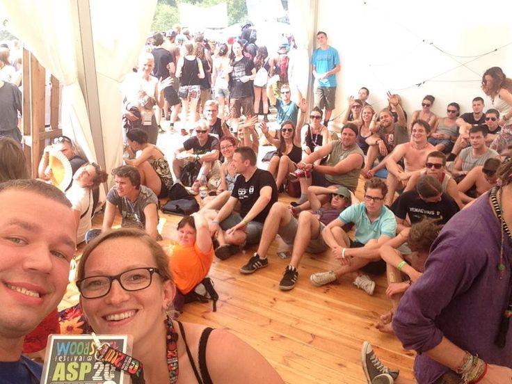 Jesteśmy tutaj, kto nas widział? #pandalajka na warsztatach ASP podczas #woodstock2014