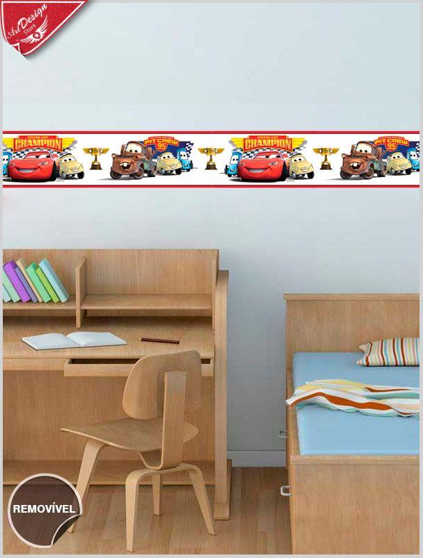 Border Infantil de Parede Carros da Disney :: Decore Ideias - Adesivos Decorativos, Presentes Criativos, Papeis de parede e muito mais.
