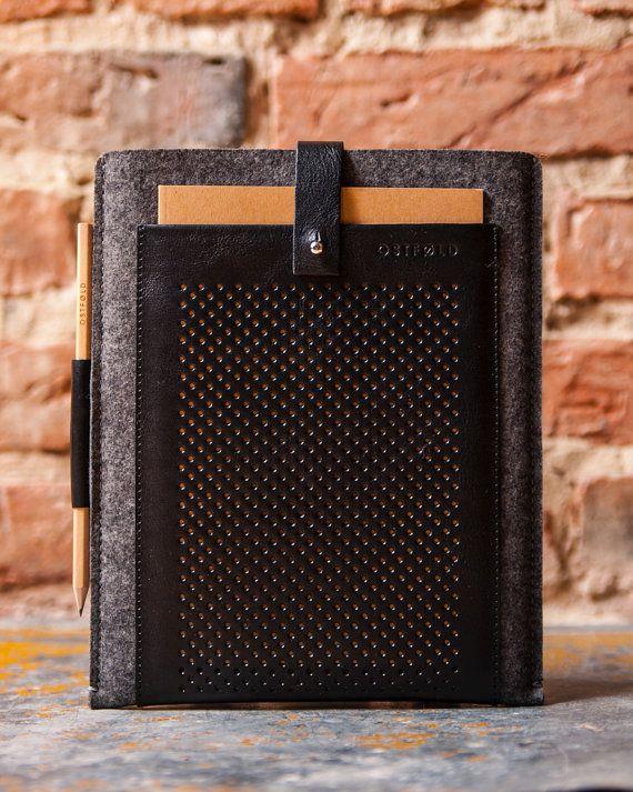 Etui iPad Air 2  cuir et laine feutré pour OSTFOLD par OSTFOLD