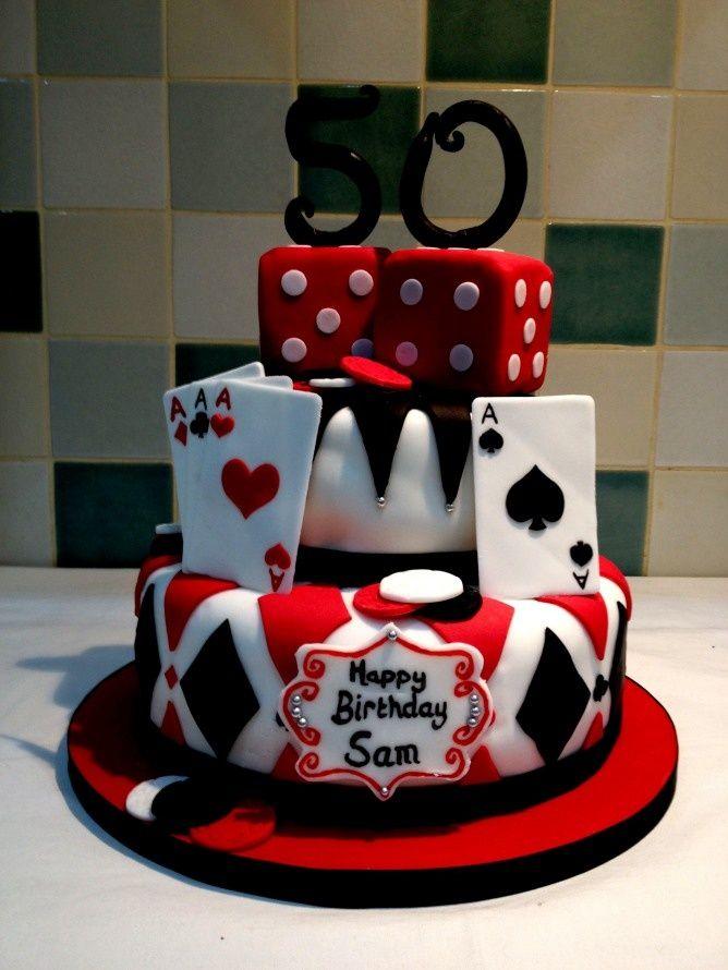 casino night birthday cakes