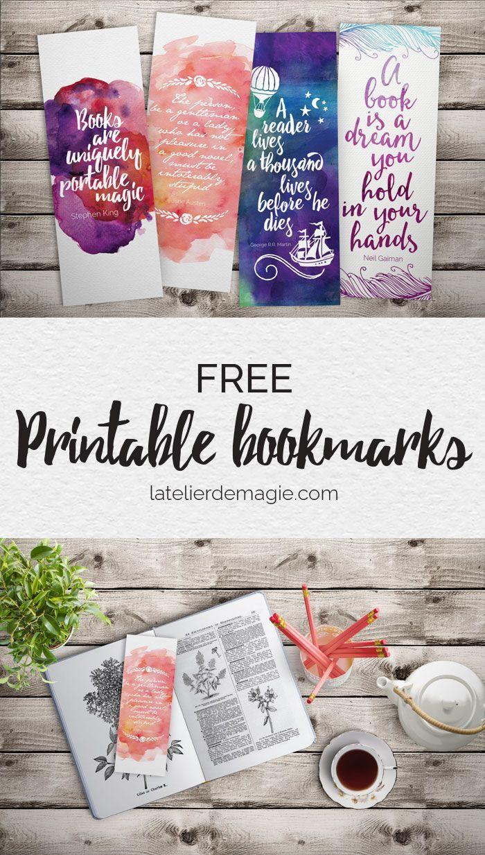 Free printable bookmarks | latelierdemagie.com