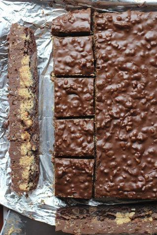 peanut butter crack brownies