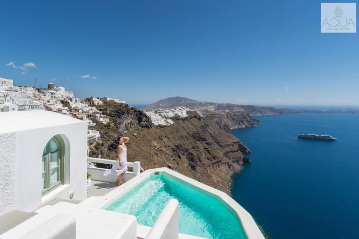 The scenery is taking your breath away! #Santorini #magic More at aquasuites.gr/hotel_gallery/