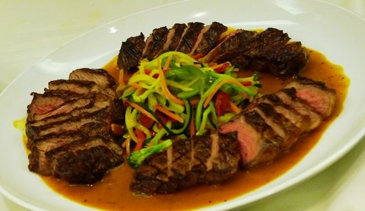 Black pepper tenderloin at Mulan Chinese banquet in Queens, NYC- NC Triangle Dining