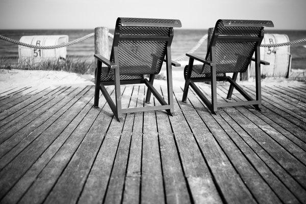 Die Ostsee bei Kellenhusen in s/w am 17. Mai 2013