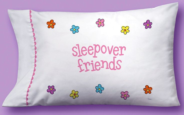 girls can decorate their own pillowcase @ the sleepover party