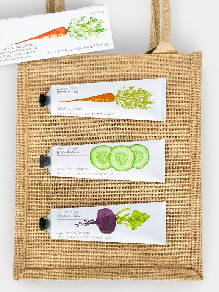 Cucumber & Honey, Carrot & Neroli, and Sugar Beet and Blossom Handcreme Trio plus Jute Tote #clean #fragrance #fresh