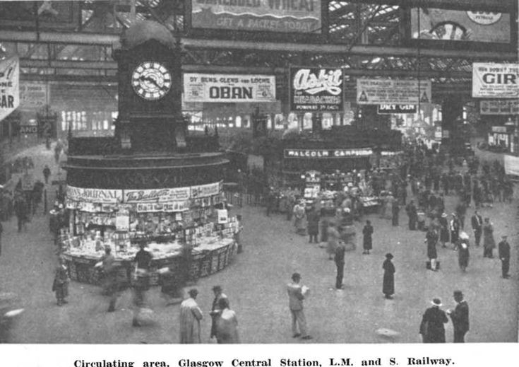 Glasgow Central Station. Great excitement on Fair Friday when we joined the crowds to take the steam train at the start of our holiday.