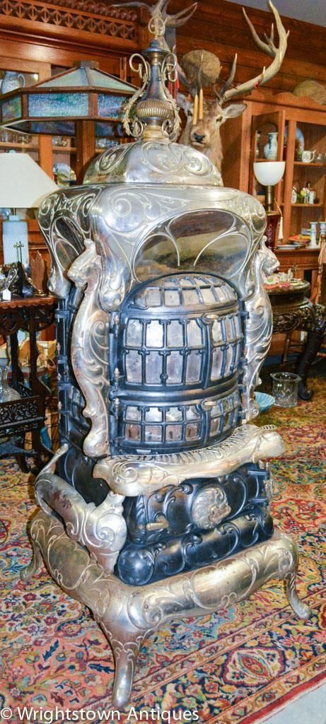 Antique Victorian STEWART RADIANT Parlor Stove #62 GRIFFINS Fuller-Warren Co WI