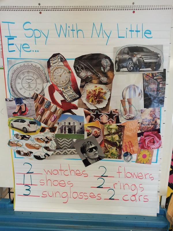 Eye Spy Class Activitiy - use with Five senses unit ~ Chalk Talk: A Kindergarten Blog