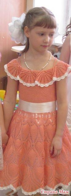 Платье внучке на выпускной в садике - Вязание - Страна Мам