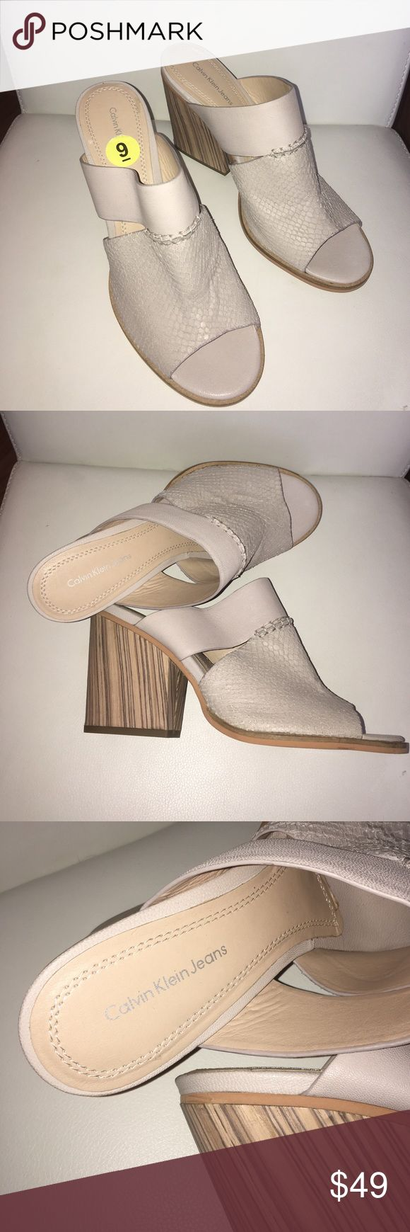 New Calvin Klein Jeans Open Toe Wedge 🎀 NWOB Calvin Klein Jeans NWOB beautiful open toe sandals in perfect condition 💕0134210987 Calvin Klein Jeans Shoes Wedges