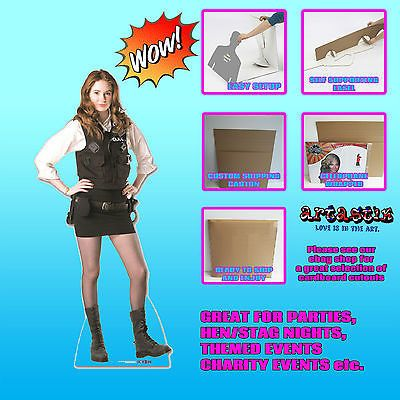 Amy pond policewoman #uniform doctor who #tabletop #sc320 lifesize cardboard cuto,  View more on the LINK: 	http://www.zeppy.io/product/gb/2/271793732354/