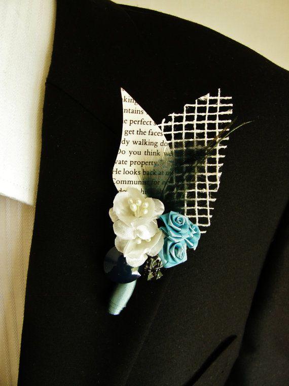 Men's Vintage Wedding Boutonniere by mylifeasabowerbird on Etsy, $18.00