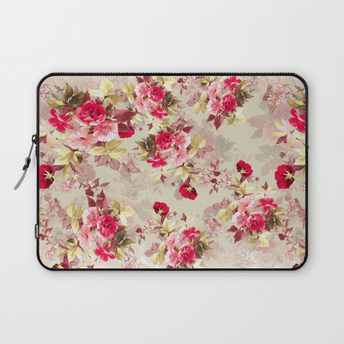 Vintage Roses Laptop Sleeve #vintage #roses #red #women #scarf #fashion #fashionable #floral #flowers #home #interiors