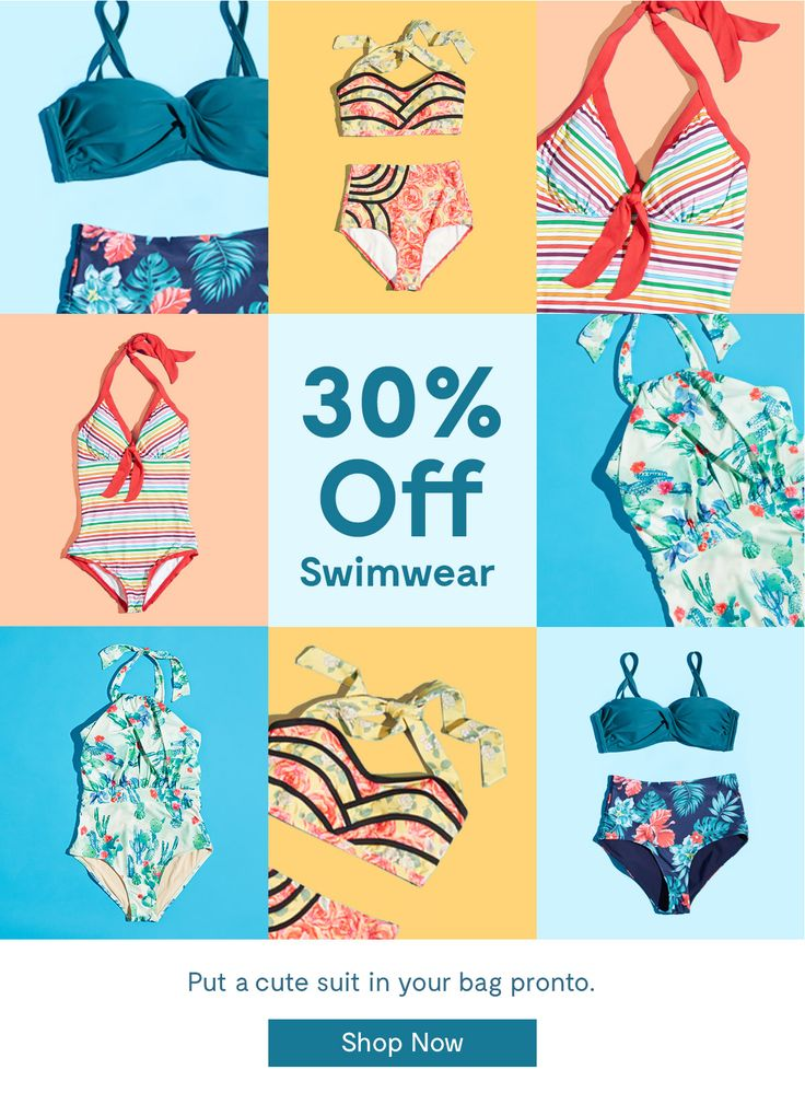 Modcloth Swimwear Sale Email Newsletter Design