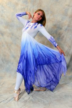 This dress is striking with a floor length double layer empire chiffon skirt. This dress · Praise Dance ...