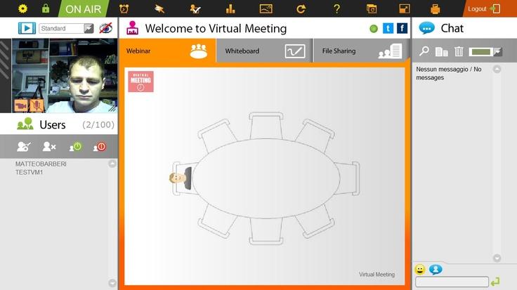 Schermata iniziale di VM Collaboration