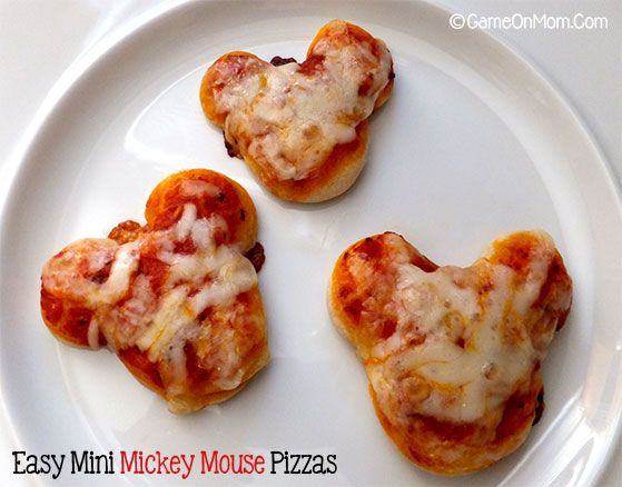 Easy Mini Mickey Mouse Pizzas - Game On Mom