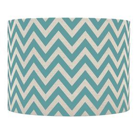 Picture of Teal and Tan Chevron Lamp Shade 7X10X8