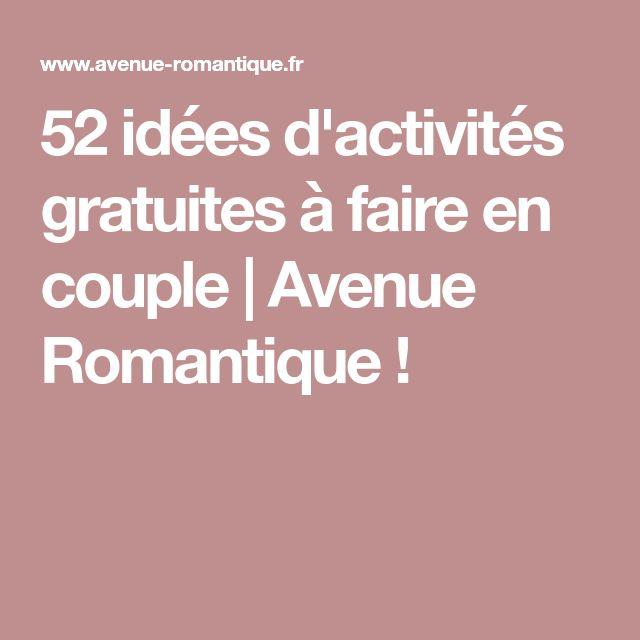 52 idées d'activités gratuites à faire en couple | Avenue Romantique !