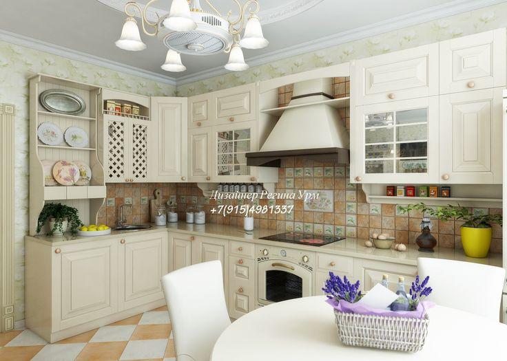 кухня - прованс - дизайн интерьеров - дизайн проект - светлая гостиная - дизайн кухни