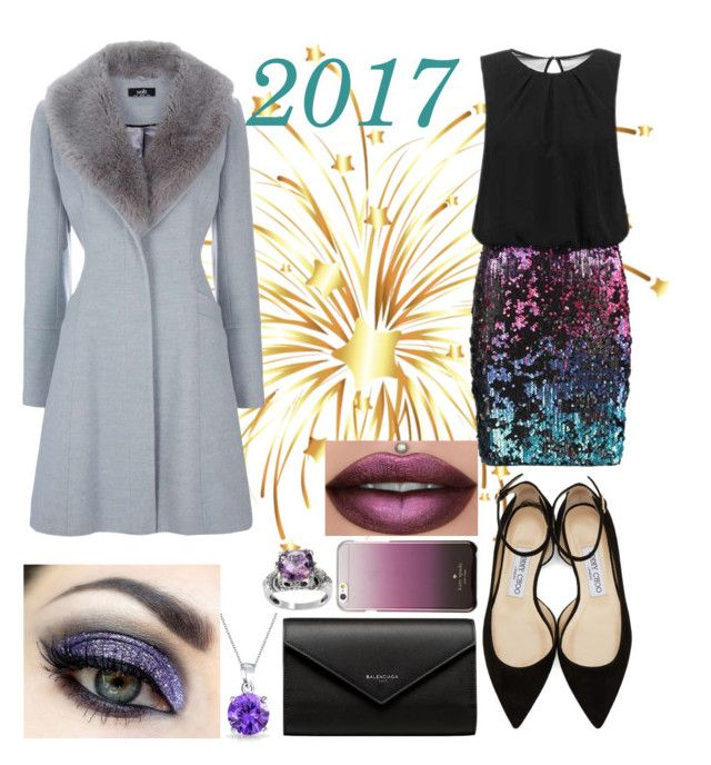 """🎉Sparkle 2017🎆🎇🌃✨🎉"" by emmatob on Polyvore featuring Laona, Jimmy Choo, Balenciaga, Kate Spade and Bling Jewelry"