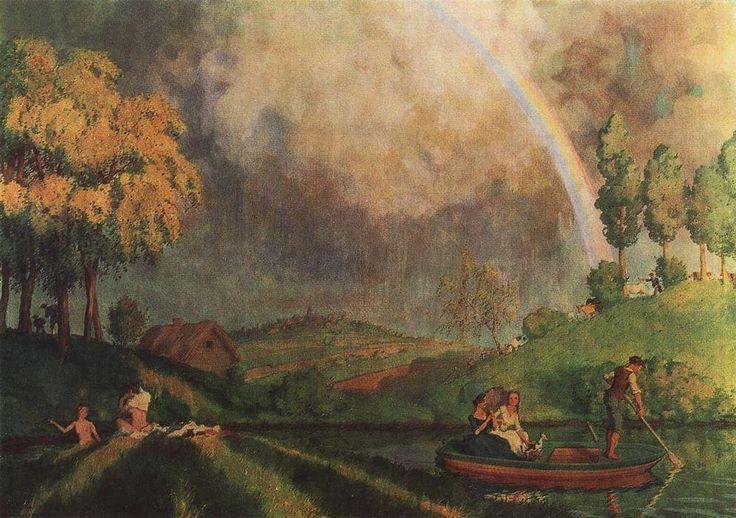 À l été, 1921 de Konstantin Somov (1869-1939, Russia)