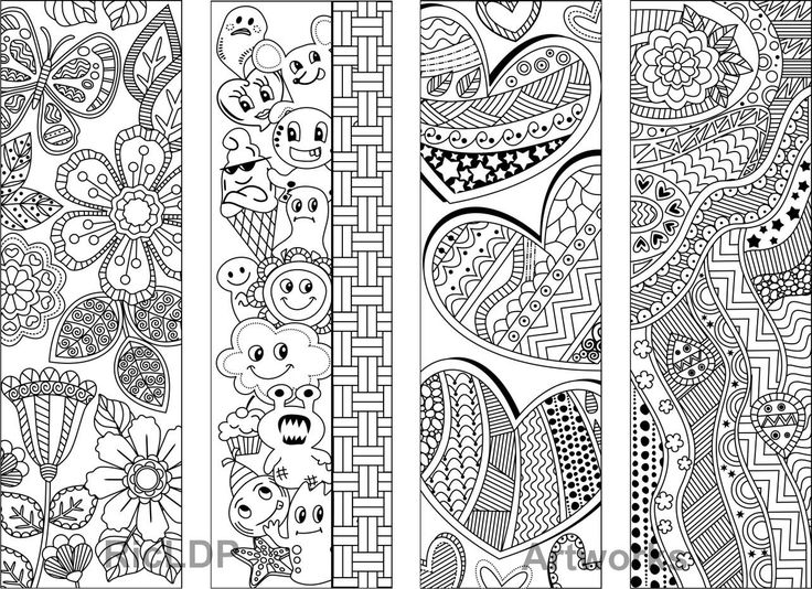 Abstract Coloring Heart Pages