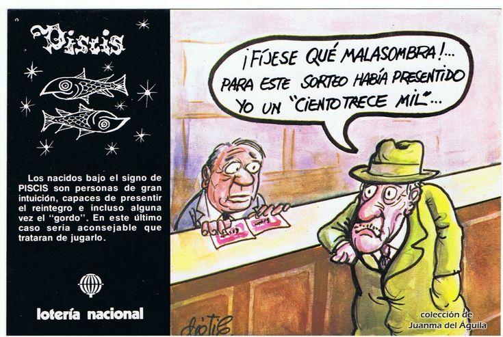 "Piscis - Emilio Dáneo ""Dátile"" (España, 1981) - Zodiaco y lotería"