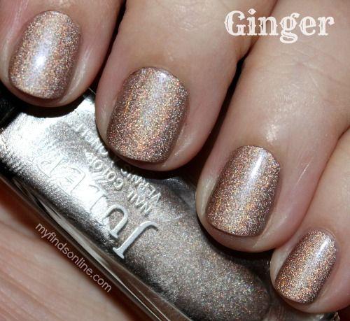 Julep Ginger holographic nail polish