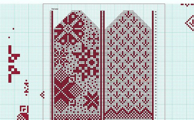 Mitten pattern by Veronik A., via Flickr - but I think it would be cute as cross-stitched bookmarks.
