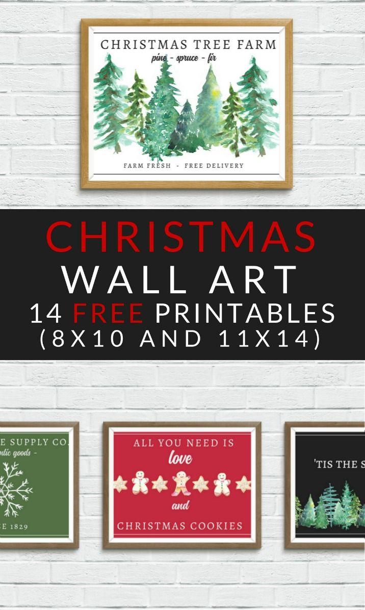 Free Christmas Printables Farmhouse Christmas Art Free Christmas Printables Christmas Wall Art Printables Christmas Prints