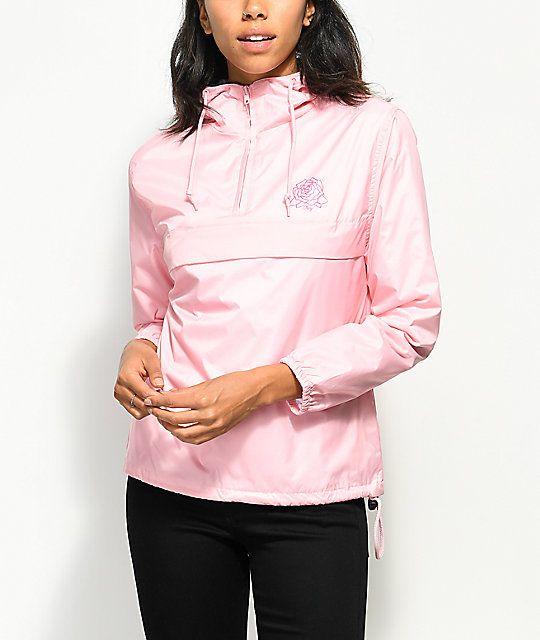 Obey Mira Rose Pink Anorak Jacket