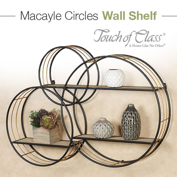 Macayle Circles Modern Wall Display Shelf Circle Wall Shelf Wall Shelf Display Wall Shelves