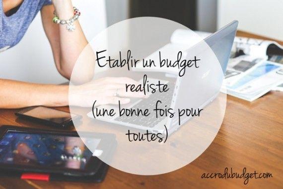 etablir budget realiste