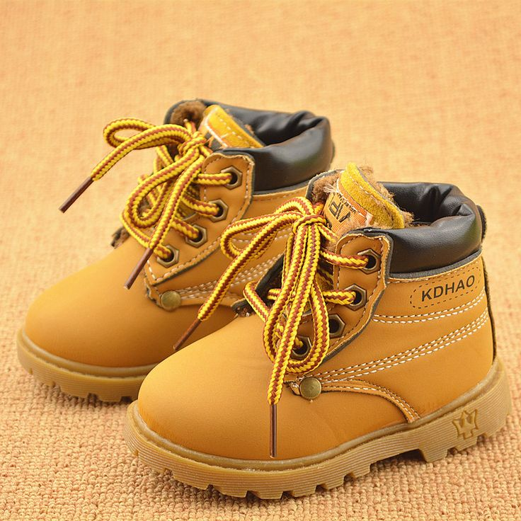 Spring Winter Children Sneakers Martin Boots Kids Shoes Boys Girls Snow Boots Casual Shoes Girls Boys Plush Fashion Boots